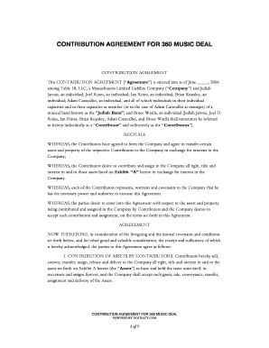 Editable artist recording contract 360 deal fill print for 360 deal contract template
