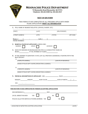 NEXT OF KIN FORM - moonachiepd org Fill Online, Printable