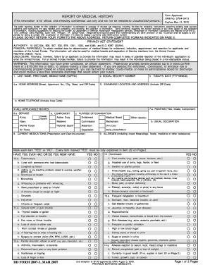 Fillable Online public navy REPORT OF MEDICAL HISTORY DD FORM 2807 ...
