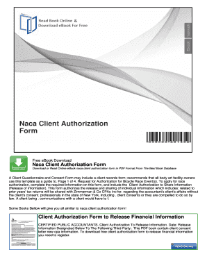 Naca Client Authorization Form - UrsDoc.Com