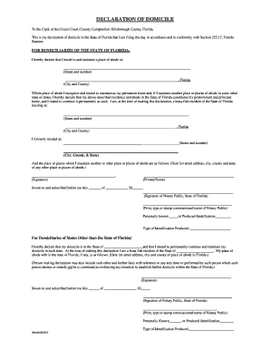 2014-2017 Form FL Declaration of Domicile Fill Online, Printable ...