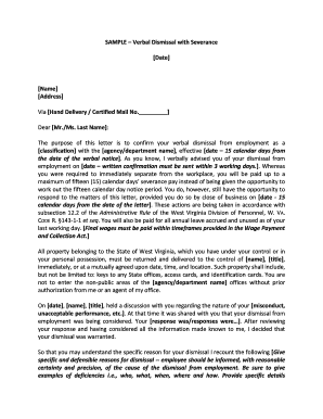 drug/alcohol dismissal sample letter - WV Division of Personnel - personnel wv