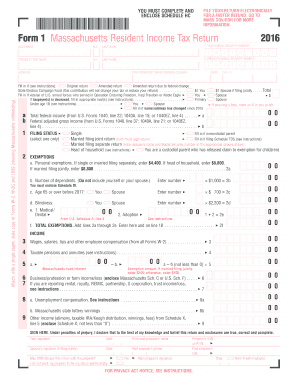 massachusetts form 1 2016-2019