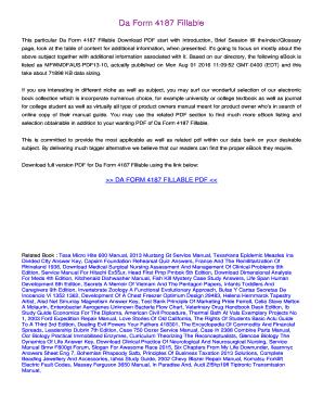 Fillable Online bouwbook Da Form 4187 Fillable PDF. Free Download ...