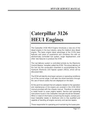 Fillable Online Caterpillar 3126 HEUI Engines - VALVULITA