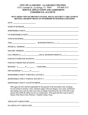 Editable Commercial Lease Agreement Texas Fill Out Print