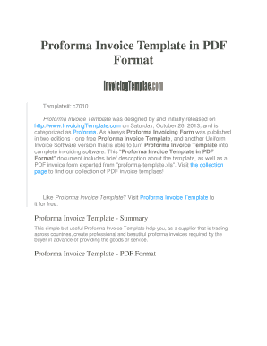 fillable online proforma invoice template in pdf format invoicing