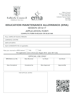 Fillable Online falkirk gov EMA Application form 2016-17. Education on application meaning in science, application to date my son, application trial, application for rental, application to join a club, application approved, application for scholarship sample, application clip art, application template, application to join motorcycle club, application cartoon, application in spanish, application service provider, application submitted, application to rent california, application for employment, application to be my boyfriend, application database diagram, application error, application insights,