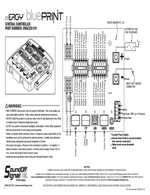 fillable online central controller part number engcc01241 warning Code 3 Wiring Diagram