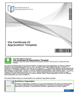 Fillable online vfw certificate of appreciation template fax email fill online yelopaper Choice Image