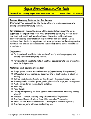 Printable esl cooking lesson plan Templates to Submit Online