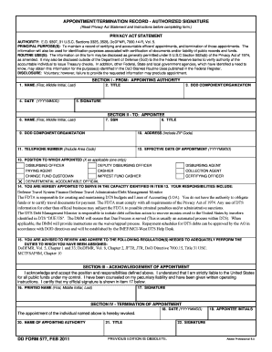 Fillable Online DD577 FDTA DMM - I Marine Expeditionary Force Fax ...