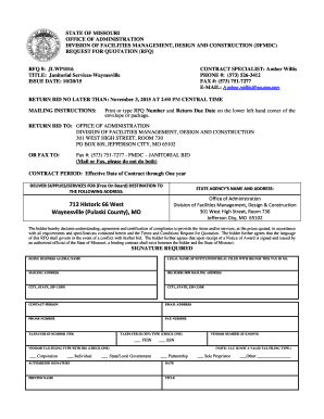 17 printable construction rfp template forms fillable samples in