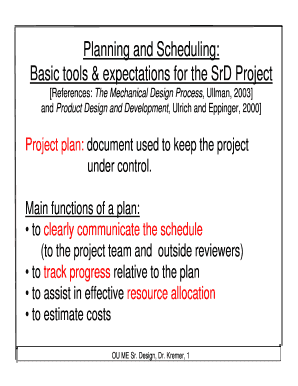 documentation in production planning and control - Forms