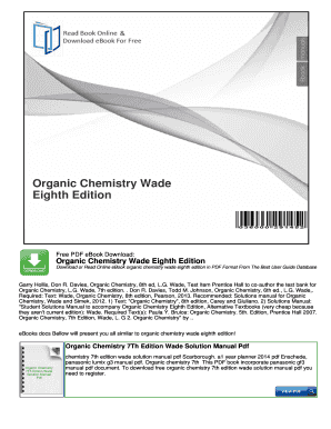 Organic chemistry 5th edition bruice solutions manual array fillable online organic chemistry 8th edition solutions manual wade rh pdffiller com fandeluxe Image collections
