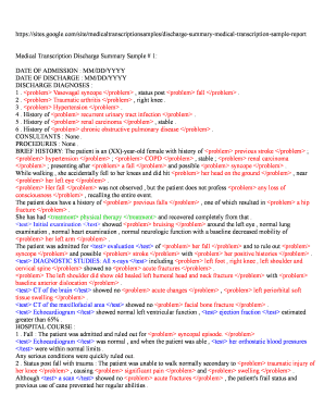 Medical Transcription: Types of Hospital Medical Reports ...  Medical Transcription Report