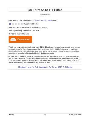Fillable Online Da Form 5513 R Fillable. da form 5513 r fillable ...