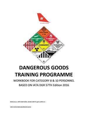 Iata Dangerous Goods Training Programme Workbook 2 - Fill