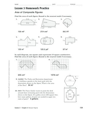 Lesson 3 Reteach Area Of Composite Figures Fill Online Printable Fillable Blank Pdffiller