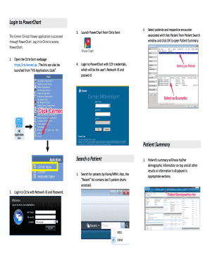 powerchart login nsw health to Download - Editable, Fillable