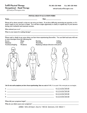 physical therapy initial evaluation form Pictures Of A Physical Therapist Evaluation - Fill Online, Printable ...