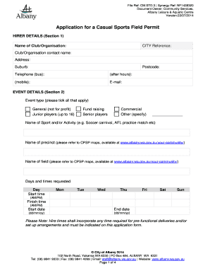Sports Certificate Format Pdf. Casual Sport Permit Centennial Park Sporting  Precinct   City Of Albany