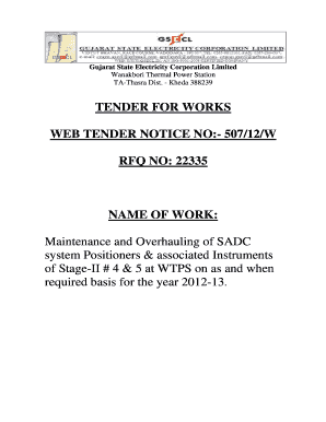 types of tender notice