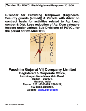 picture relating to Printable Company Limited identify Paschim Gujarat Vij Enterprise Confined - Fill On the net