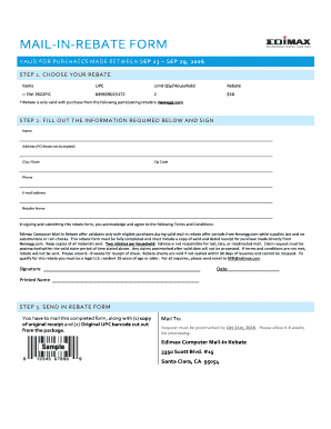 Fillable Online MAIL-IN-REBATE FORM - images10.newegg.com Fax ...