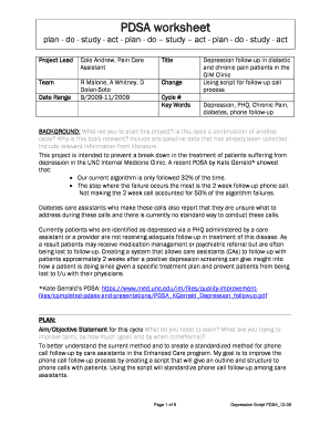 pdsa worksheet unc school of medicine med unc resume follow up call