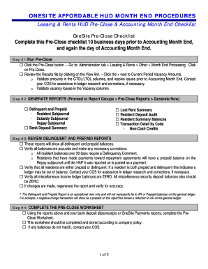 Printable accounting month end close procedures - Fill Out