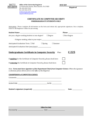 Shobhit university degree certificate application form edit certificate in computer security undergraduate students office of the university registrar yelopaper Gallery