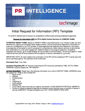 Printable rfi request for information template - Fill Out