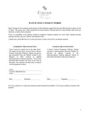 Fillable Online patch test consent form - Contour - Permanent ...