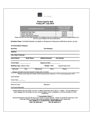 Booking Form Template Free Download Edit Fill Print Download