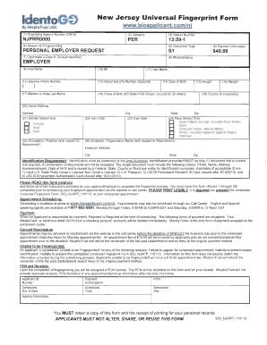 Fillable Online Id nto New ,Jersey Universal Fingerprint Form Fax ...