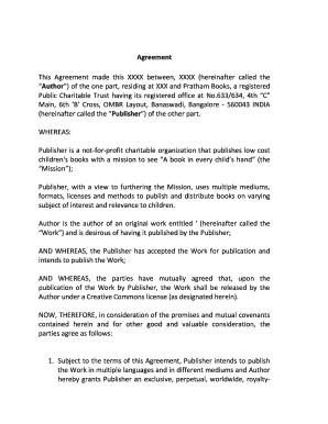 Editable agreement between author and publisher india fill print agreement between author and publisher india platinumwayz