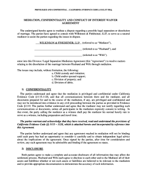 Online Mediation Agreement Template   OPTION 2 ($2000)