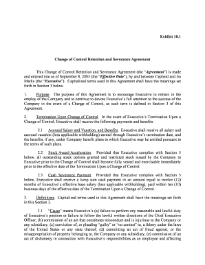 Complete Printable Severance Agreement Template California