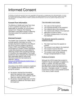 health care consent act cno - Fillable & Printable Online Forms