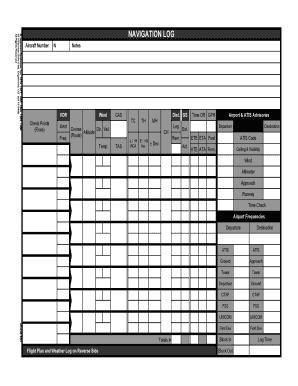 Ifr Navigation Log Form - Fill Online, Printable, Fillable ...