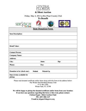 auction form