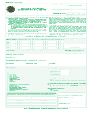 Upcat Form 2 - Fill Online, Printable, Fillable, Blank