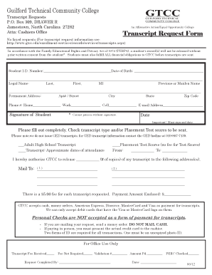 community request transcript