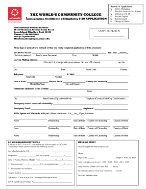 Fillable online laguardia i 20 application laguardia community rate this form thecheapjerseys Image collections