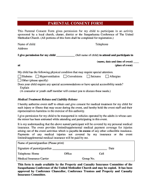 PARENTAL CONSENT FORM - susumc.org