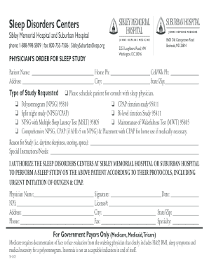 Fillable Online Sibley Memorial Hospital and Suburban Hospital Fax Email  Print - PDFfiller