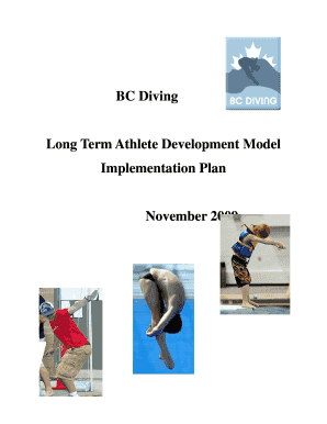 BC Diving LTAD Implementation Plan - Canadian Sport for Life