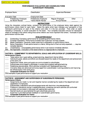 general evaluator evaluation form Templates - Fillable & Printable ...