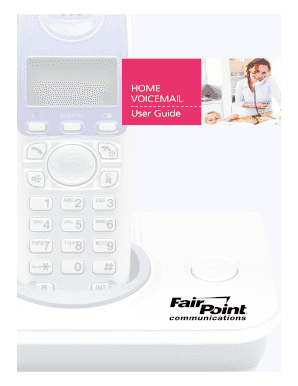 HOME VOICEMAIL User Guide - FairPoint Communications